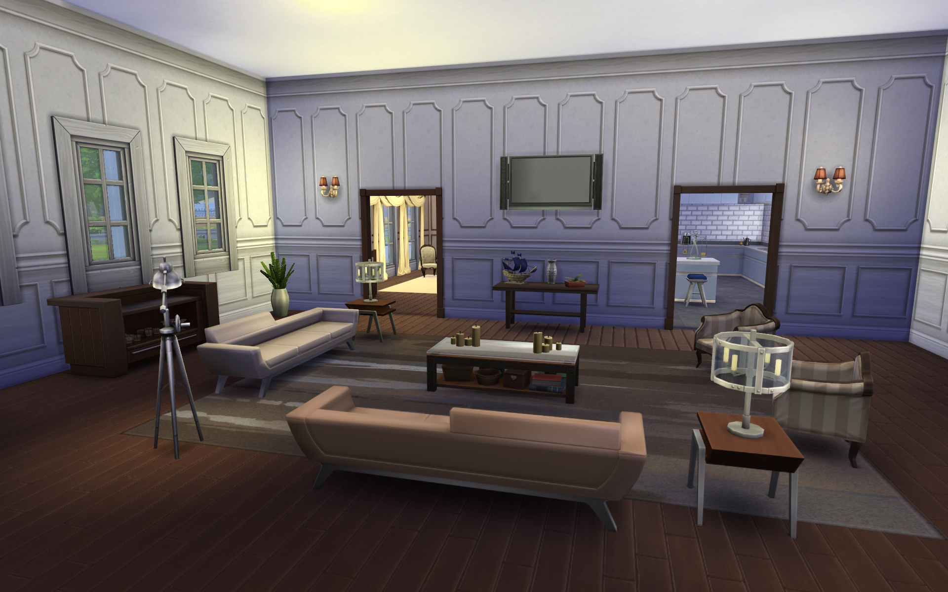 Download grandview dream home sims 4 with video for Living room ideas sims 3