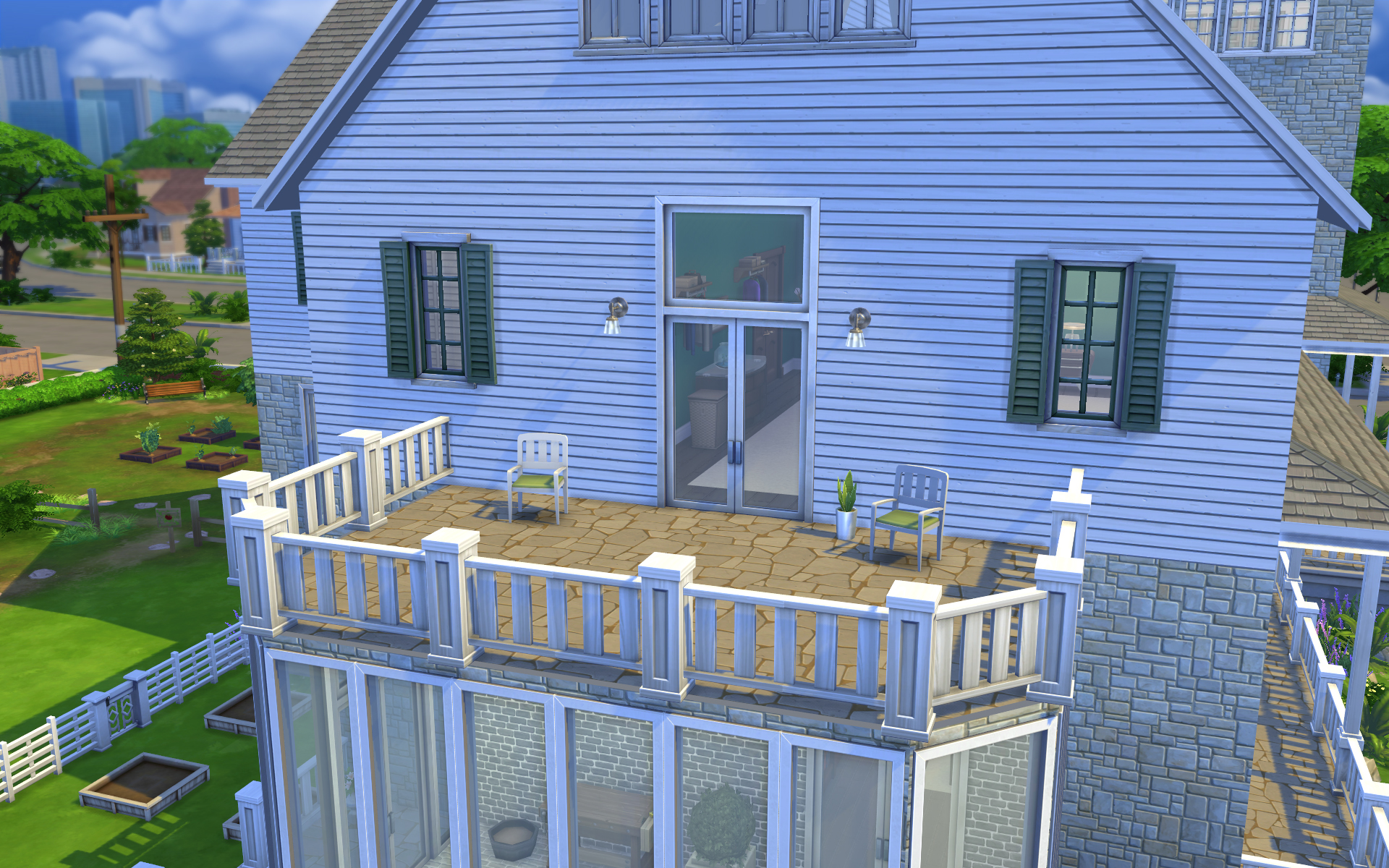 Download grandview dream home sims 4 with video for Sims 4 balcony