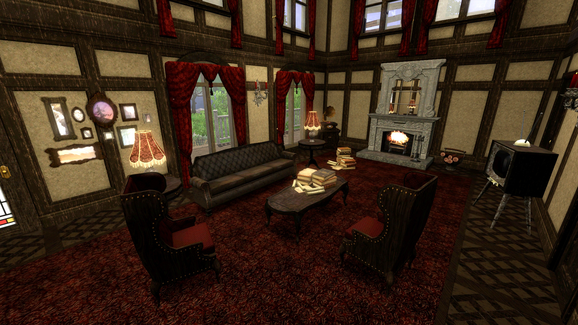 Download my new 2015 twisted haunted house the sims for S carey living room tour